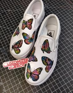 When you're done with your cacoon When you're done with your cacoon, custom painted butterfly vans done by customizerdepot Painted Canvas Shoes, Custom Painted Shoes, Painted Sneakers, Painted Vans, Hand Painted Shoes, Vans Shoes Fashion, Custom Vans Shoes, Butterfly Shoes, Cute Vans