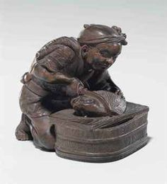 Netsuke for Sale | wood netsuke | TAISHO-SHOWA PERIOD (EARLY 20TH CENTURY), SIGNED ...