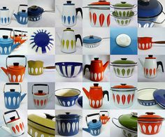 Cathrineholm Lotus enamelware , originally uploaded by planetutopia . When I first came across Cathrineholm enamelware.