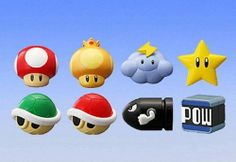 Super Mario Bros Mario Kart Mini Figure Set Of 8 by Banpresto. $19.99. 1x Lightning Cloud Mini Figure. 1x Invincible Star Mini Figure. 1x Green Koopa Shell. 1x Golden Mushroom. 1x Red Koopa Shell. Set of 8 includes: * 1x Red Super Mushroom * 1x Bullet Bill * 1x Kart Pow Block * 1.5 inch figures * Makes a great gift set * Padded construction * Take your favorite Mario Kart characters on the go! * Collect them all * All Brand new in manufacturer packaging