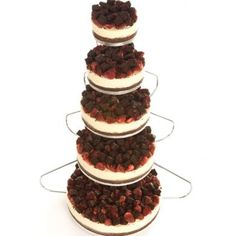 5 Tier Together Forever #wedding #weddingcake #togetherforever #ido #strawberry #chocolate #5tier #tiercake #cheesecake #english #uk