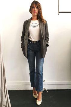 Jeanne Damas Wears Her Go-To Tee, Three Ways - HarpersBAZAAR.com