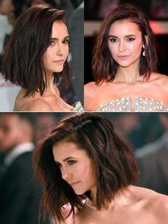 """Schauspielerin Nina Dobrev (""""Vampire Diaries"""") hat sich Anfang 2017 von ihrer langen Mähne verabschiedet und trägt nun einen sehr coolen, welligen Bob, den wir euch hier aus drei Blickwinkeln zeigen. Dieser Schnitt sieht mit welligem Haar genauso toll aus wie geglättet und wird uns in diesem Jahr sicher noch an vielen weiteren Promis und auf der Straße begegnen.Noch mehr Trendfrisuren hier"""