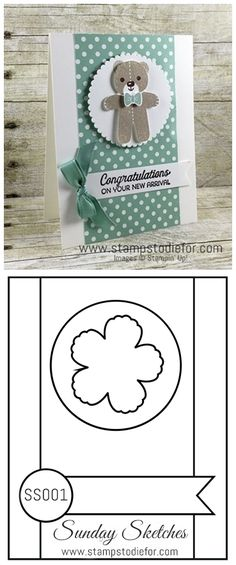 Stampin Up Cookie Cutter Christmas Stamp Set & Punch, Baby Card, New Baby…