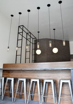 Delancey: Steel and Wood Bar Counter