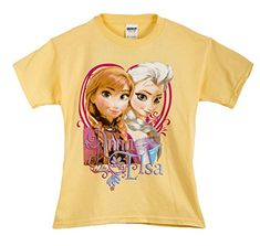 FESS053 Disney Girls Frozen Graphic Tee Shirt Sizes 416 in Yellow Size S * Continue to the product at the image link.