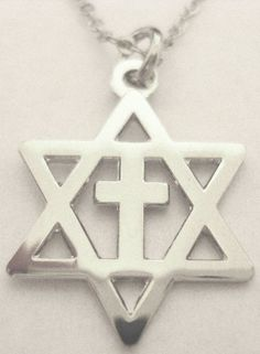 Messianic 925 Sterling Silver SMALL Star of David and CROSS Charms and BOX Chain