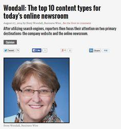 The top 10 #content types for today's #onlinenewsroom | PR Week