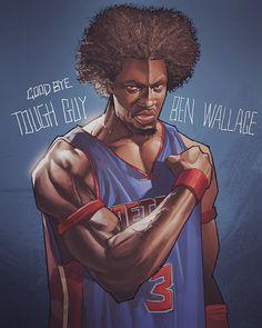 by hyper_three Mvp Basketball, Basketball Posters, Basketball History, Basketball Quotes, Basketball Shirts, Ben Wallace, Nba Pictures, Detroit Sports, Nba Stars