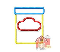 Play doh container applique design play by AppliqueBarnDesign