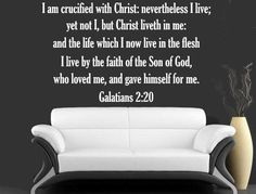 Inspiring Quotes - Galatians 2:20 - I Am Crucified With Christ Bible Stickers Please note the size of this listing as the picture may not show the size to scale