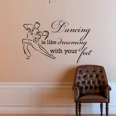 Vinyl Wall Decal Motivational Quote Dancing is от WisdomDecals