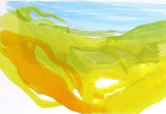 "Costa del Sol 2----8.25"" x 12""----Encaustic on Paper by Martha Rea Baker"