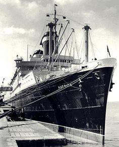 United States Lines AMERICA at Bremen, 1950s