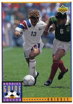 RARE 1994 UPPER DECK WORLD CUP SOCCER ROOKIES SOCCER GUIDE DRIBBLE USA MINT