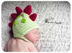 Crochet Dino hat by My Simply Sweet Little Boutique  www.facebook.com/MSSLB  Photo by: Little Gifts From God Photography