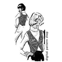 Crochet Vest Pattern 1960s Vintage Medallion by DigitalPatternShop