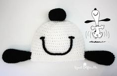 #Crochet Snoopy Happy Dance Hat Free Pattern - Repeat Crafter Me