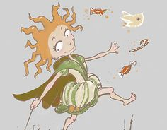 """Check out new work on my @Behance portfolio: """"Happiness fairy"""" http://be.net/gallery/45806475/Happiness-fairy"""