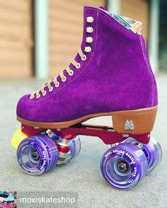 Moxi Skates Retro Roller Skates, Quad Roller Skates, Roller Rink, Roller Disco, Roller Derby, Roller Skating, Ice Skating, Purple Love, All Things Purple