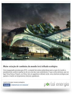 Maior estação de comboios do mundo terá telhado ecológico