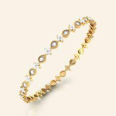 kyra gold diamond bangle
