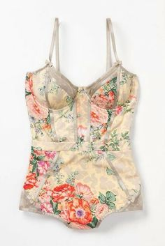 swimwear vintage style floral, love this! Women's summer swimwear fashion