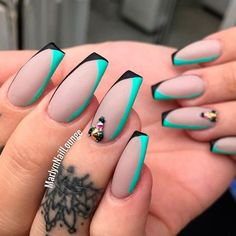 Examples Of Beautiful Long Nails To Inspire You - Best Long Nail Designs for Glamorous Girls ★ See more: naildesignsjourna… - Fancy Nails, Bling Nails, Love Nails, My Nails, Nail Manicure, Punk Nails, Glitter Nails, Cute Acrylic Nails, Matte Nails