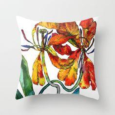 2 Yellow Tulips  Throw Pillow by Sofia Perina-Miller - $20.00