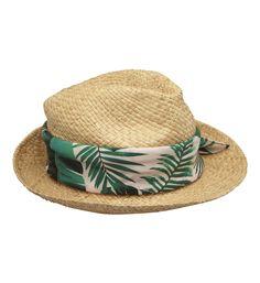 Chapeau avec foulard imprimé Naf Naf en marron - Galeries Lafayette 5a2e6183ffc