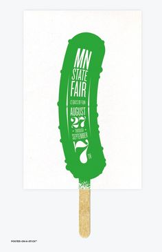 Posters on a Stick: love these!