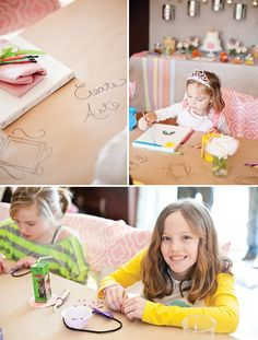 Creative & Sweet Pastel Art Birthday Party // Hostess with the Mostess®