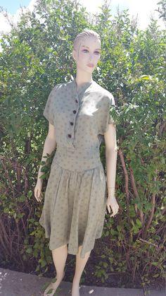 Ladies Vintage Dress by EmmasGraceVintage on Etsy