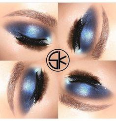 I love blue on dark eyes