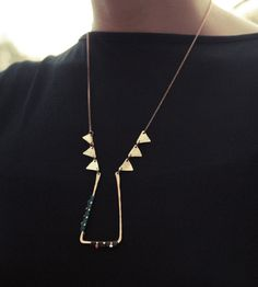 Triangle Pedimente Necklace   Jewelry Necklaces   AMiRA Jewelry   Scoutmob Shoppe   Product Detail