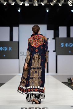 Akif Mahmood, PFDC 2012. Beautiful combination of colors and pattern.