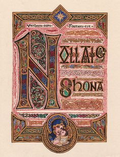 """Nollaig Shona by Theophilia.deviantart.com on @deviantART - The title (and text) is Gaelic for """"Happy Christmas""""."""
