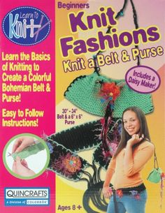 Bohemian Belt and Purse Learn To Knit Kit - I Crochet World Crochet World, Knit Crochet, Knitting Kits For Beginners, Belt Purse, Baby Kit, Kits For Kids, Fun Projects, Christmas Stockings, Sewing Crafts