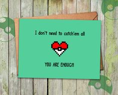 """""""I'M SO GLAD I CHOSE YOU There are some 7 billion people (and 721 Pokemon) out there. Now what are the odds of running just into the right person (or Pokemon) that you want to keep for the rest of your life? Well, if you're actually that much of a lucky one, then this is just the right card for you. This card was designed for all you lucky ones out there to tell your significant other how much they mean to you. >>> Interested in getting more cards for different occasion at once? Find our…"""