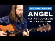 "🎸 How to play ""Angel Flying Too Close to the Ground"" Beginner Guitar Scales, Guitar For Beginners, Guitar Acoustic Songs, Guitar Chords, Angel Flying, Song Notes, Playing Guitar, Learning Guitar, Guitar Chord Chart"