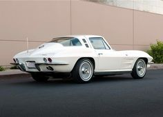 1964 C2327 Coupe in Ermine White - Not the 1963 split window but still very cool.
