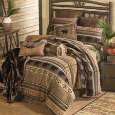 Saranac Lodge Bear & Moose Bed Set - www.blackforestdecor.com