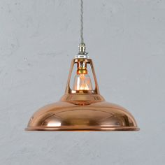 copper vintage industrial pendant lamp by artifact lighting | notonthehighstreet.com