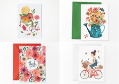 floral cards by oanabefort, via Flickr