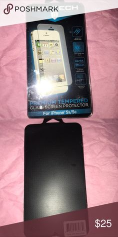 iPhone 5s/5c Glass Screen Protector Brand new, great quality, and glass. Pro-Tech Accessories Phone Cases
