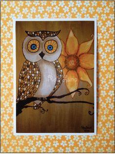 'Summer Flower Owl' by Rachael Rose of rosiluna