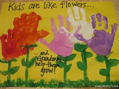 handprint flowers  ::Second Chance to Dream: 15 Kids Mother's Day Crafts::