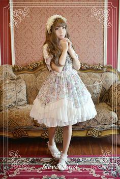 neverland-lolita-antique-clock-sweet-lolita-puff-sleeves-op-dress-3.jpg 650×974 ピクセル