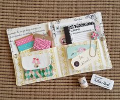 The Stationery Kit Tutorial (Fabric Mutt) Small Sewing Projects, Sewing Crafts, Needle Book, Needle Case, Operation Christmas Child, Sewing Tutorials, Sewing Kits, Sewing Ideas, Patch Quilt