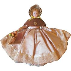 Ruth Gibbs Doll ~ Rare with Mohair Wig ~ All Original ~ with Fruit Basket